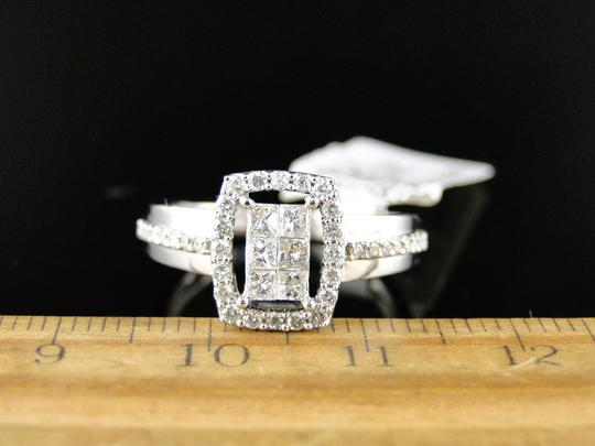 Other 14K White Gold Princess Cut Diamond Engagement Wedding Ring 1/2 Ct Image 3