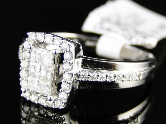 Other 14K White Gold Princess Cut Diamond Engagement Wedding Ring 1/2 Ct Image 4
