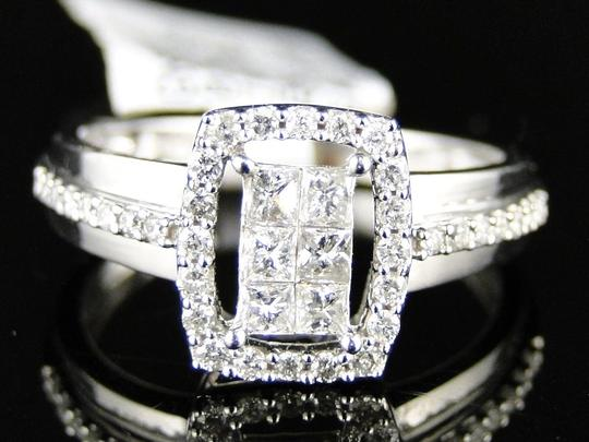Other 14K White Gold Princess Cut Diamond Engagement Wedding Ring 1/2 Ct Image 5