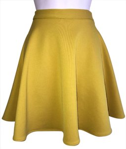 Bar III Mini Skirt Yellow