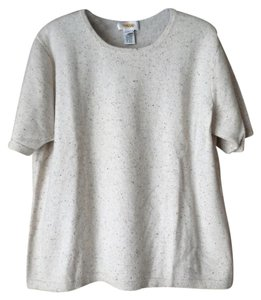 Talbots Cashmere Short Sleeves Rounded Neckline Sweater