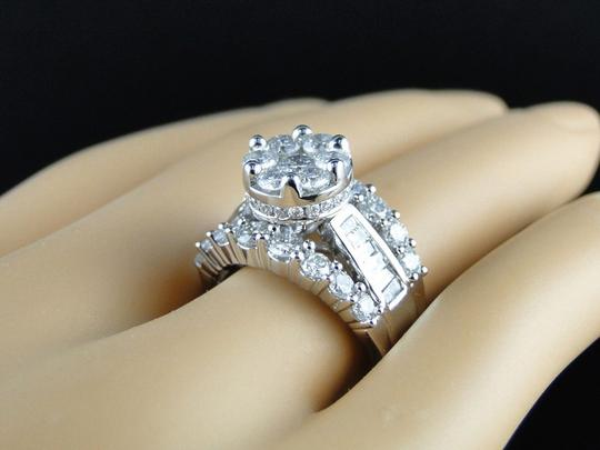 Other 14K White Gold Round Cut Diamond Engagement Wedding Ring 3.0Ct Image 1