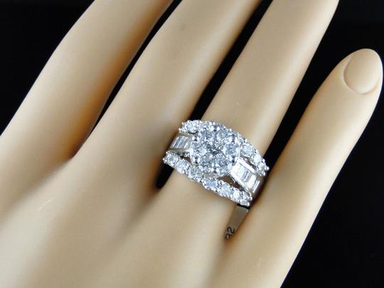 Other 14K White Gold Round Cut Diamond Engagement Wedding Ring 3.0Ct Image 2