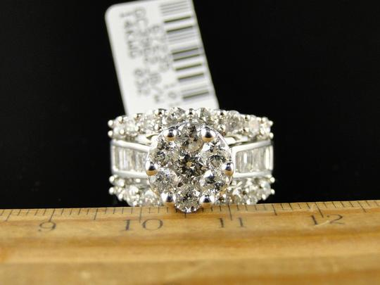 Other 14K White Gold Round Cut Diamond Engagement Wedding Ring 3.0Ct Image 3