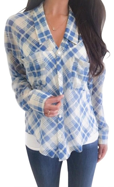 Preload https://img-static.tradesy.com/item/20871279/free-people-blue-sheer-plaid-button-down-top-size-2-xs-0-1-650-650.jpg