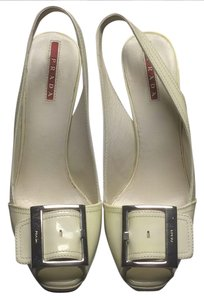 Prada White/Cream Platforms