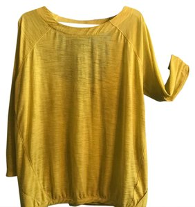 Athleta yellow Athleta yoga top