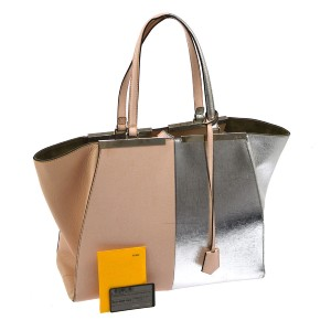 Fendi Tote in Pink/Silver