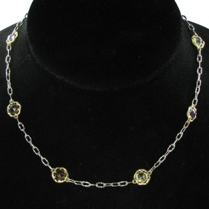 Tacori 18k925 Color Medley Necklace 18k Yellow Gold Sterling Silver