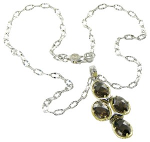 Tacori 18k925 Midnight Sun Oval Pools Necklace Smoky Quartz 18k Y Gold 925