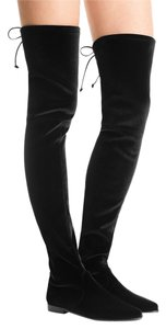 Stuart Weitzman Otk Over The Knee Velvet Leggylady Black Boots