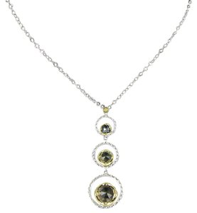 Tacori 18k925 Midnight Sun Skipping Stone Necklace Smoky Olive Hematite