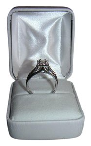 Other 14K solid White real Gold Diamond Engagement Ring