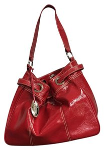 Talbots Gathered Designer Tote in Red
