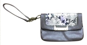 Simply Vera Vera Wang Leather Wristlet in Grey and Multi Color (purple)