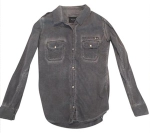 Rails Button Down Shirt grey