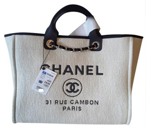 Chanel Deauville Tote in White