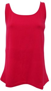 Talbots Casual Shell Knit Sleeveless Top Watermelon Red
