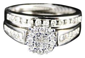 Other 14K White Gold Princess Cut Diamond Bridal Engagement Ring Set