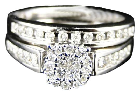 Preload https://img-static.tradesy.com/item/20871666/white-gold-14k-princess-cut-diamond-bridal-engagement-set-ring-0-1-540-540.jpg