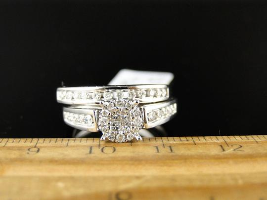 Other 14K White Gold Princess Cut Diamond Bridal Engagement Ring Set Image 2