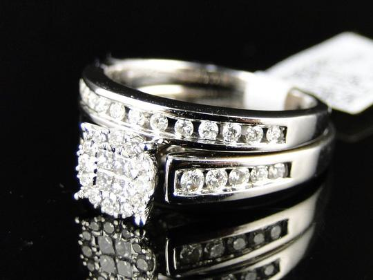 Other 14K White Gold Princess Cut Diamond Bridal Engagement Ring Set Image 4