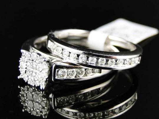 Other 14K White Gold Princess Cut Diamond Bridal Engagement Ring Set Image 5