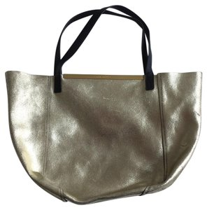 Ted Baker Tote in gold/black and white