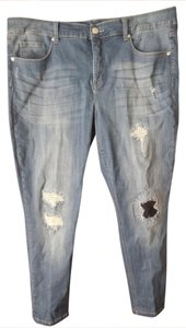 Seven7 Logo Plus-size Skinny Jeans-Distressed