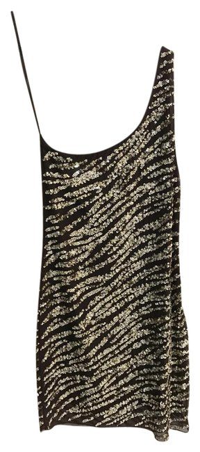 Alice + Olivia Brown and Gold C103508531 Short Cocktail Dress Size 6 (S) Alice + Olivia Brown and Gold C103508531 Short Cocktail Dress Size 6 (S) Image 1