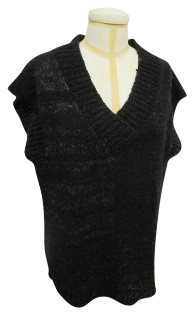 Preload https://img-static.tradesy.com/item/20871972/black-and-gray-krista-larson-knit-sleeveless-sweatervest-sweaterpullover-size-os-one-size-0-1-650-650.jpg