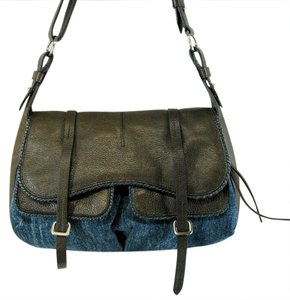 RADLEY LONDON Flapover Leather Denim Shoulder Bag