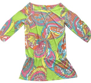 Trina Turk Trina Turk Butterfly Print Tunic Swim Cover Up Dress
