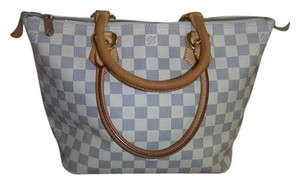 Louis Vuitton Blue And White Pm Tote in Damier Azur