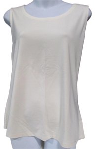 Talbots Basic Casual Sleeveless Top Cream