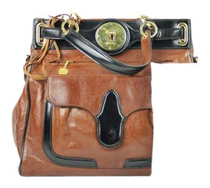 Balenciaga Tote City Day Afternoon Moto Satchel in Brown