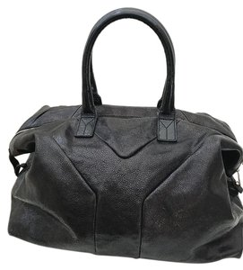 Saint Laurent Patent Leather Ysl Yves Tote
