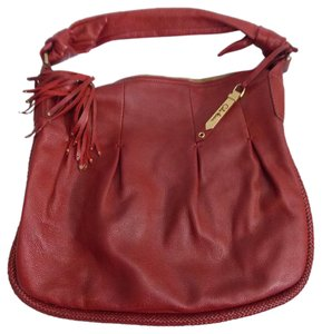 Cole Haan Pebble Grain Leather Tassel Pull Hobo Bag