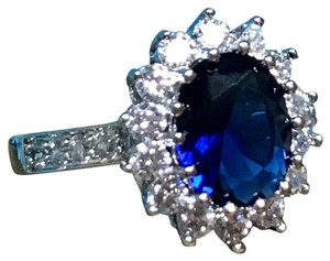 Other 14K White Gold 3.26CT Diamond Sapphire Ring