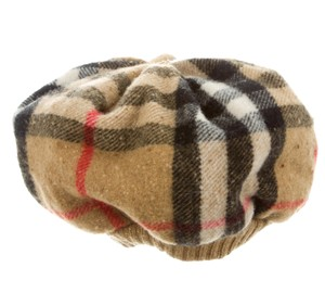 Burberry Tan, black, brown Burberry House Check wool beanie