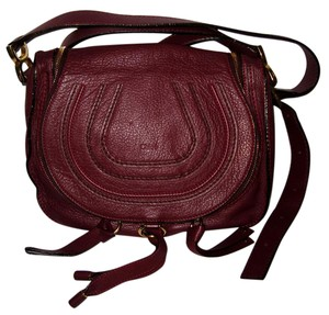 Chloé Leather Saddle Marcie Handbag Cross Body Bag