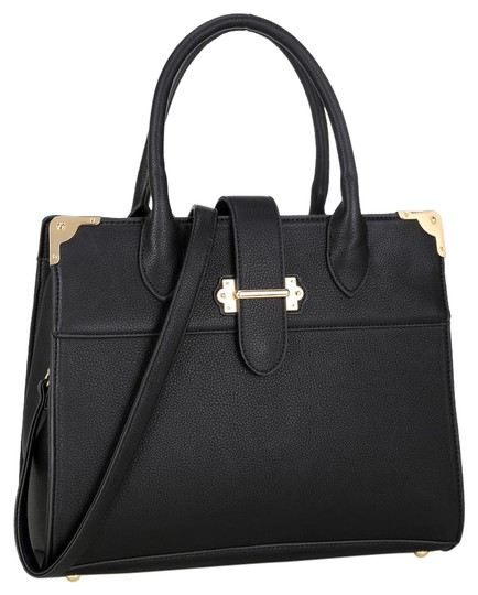 Preload https://img-static.tradesy.com/item/20872210/anais-gvani-bags-black-faux-leather-satchel-0-1-540-540.jpg