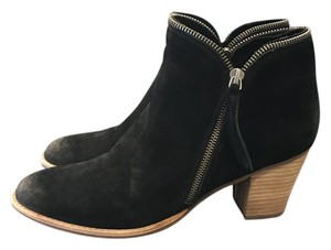 Dolce Vita Suede Ankle Zipper black Boots