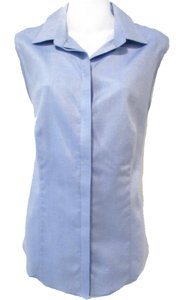 Talbots Button Down Casual Career Work Top Light Blue