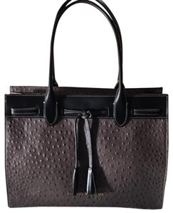 Dooney & Bourke Tote in Pewter and Black