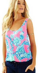 Lilly Pulitzer Top Pink Pout Barefoot Princess
