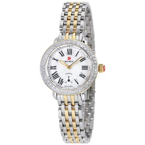 Michele NEW Serein 12 Diamond Two Tone Gold MOP Dial MWW21E000007 Ladies Watch