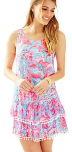 Lilly Pulitzer short dress Pink Sun Ray Summer Siren on Tradesy