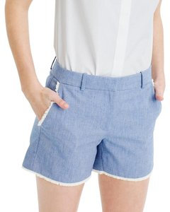 J.Crew Chambray Frayed Cutoff Denim Jean Dress Shorts Blue