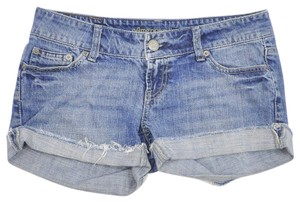 American Eagle Outfitters Distressed Denim Jean Denim Cut Off Shorts Blue